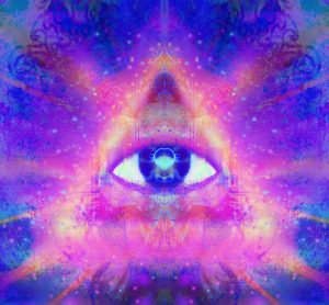 The third eye image of eye in chakra 6 of the 7 chakras